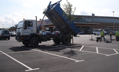 Commercial car park surfacing