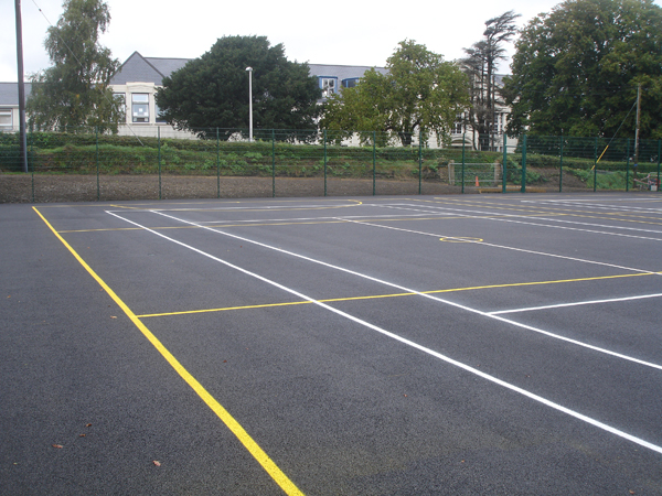 School Sports and Tennis Court